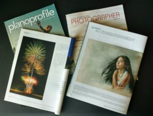 Plano Profile and Texas Professional Photographer Magazine side by side