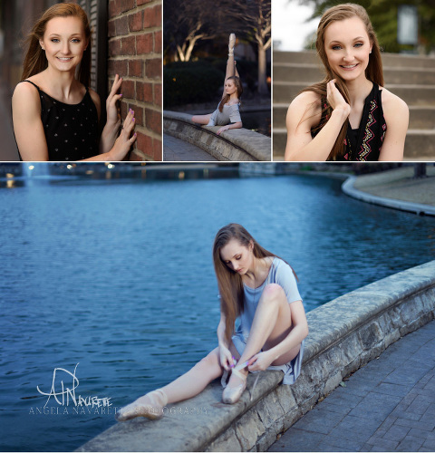 Plano Senior Portrait Session at the Shops of Legacy in Plano Texas for a Legacy Christian Academy senior girl.