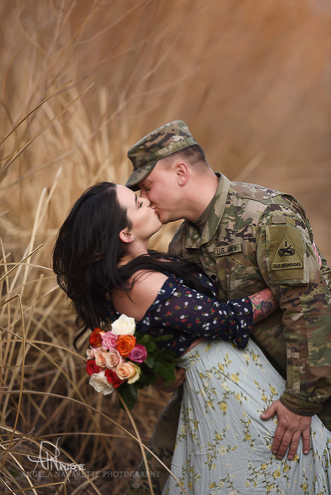 Couples Portrait Sessions Texas military style