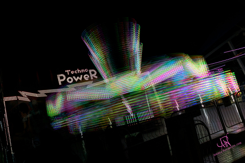State Fair Midway Ride Techno Power