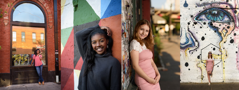 Best Locations for Senior Portraits Dallas senior girl downtown Dallas, Texas in Deep Ellum