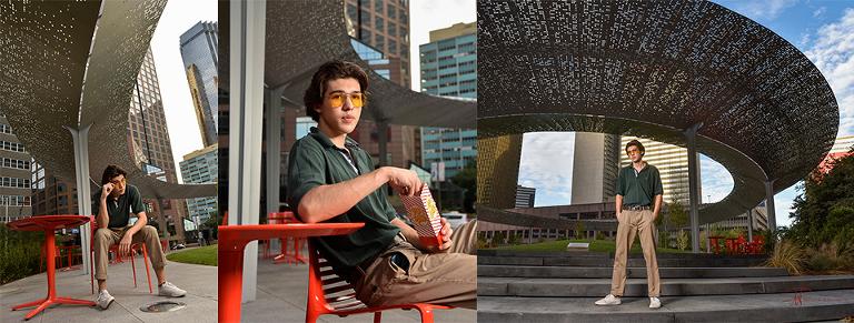 Senior Portraits Dallas Pacific Park Plaza